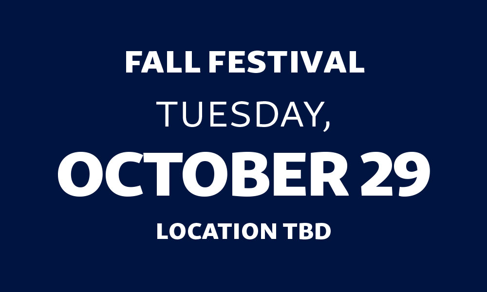 Fall Festival Date Change